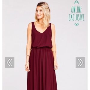 Show Me Your Mumu Kendall Maxi dress in Merlot